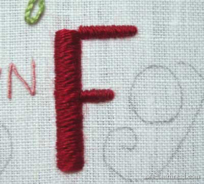 Hand Embroidery Lettering Text 7 In Satin Stitch And Chain Stitch