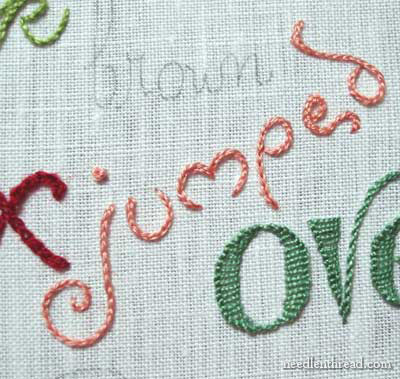 Hand Embroidery: Lettering & Text Tutorials on www.needlenthread.com