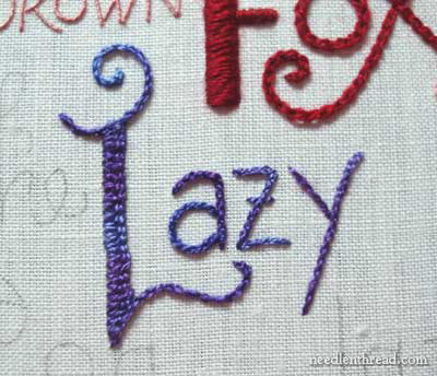 Hand Embroidery Lettering & Text Tutorials