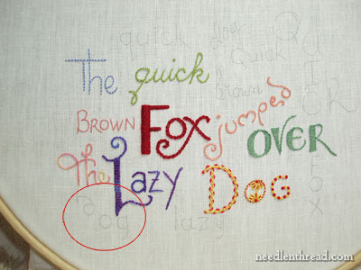 Hand Embroidered Lettering and Text: Coral Stitch