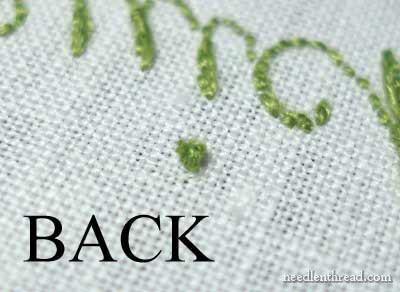 Hand Embroidery Lettering and Text tutorials on www.needlenthread.com