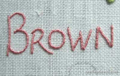 Hand Embroidered Lettering and Text Tutorial on www.needlenthread.com