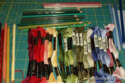 Long and Short Stitch Lesson Threads