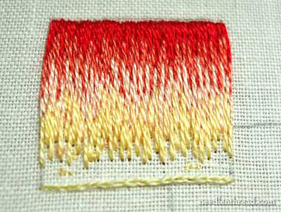 Long and Short Stitch Shading Tutorial on needlenthread.com