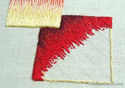 Long & Short Stitch Shading - Needlepainting - on needlethread.com
