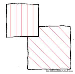 Long & Short Stitch Shading - Boxes - Stitch Direction