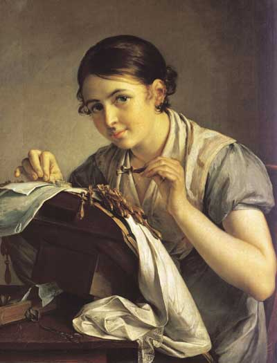 Sewing, Needlework, and Other Textiles in Art