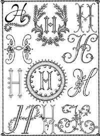 Book of Monograms and Initials for embroidery and all kinds of crafts - sample