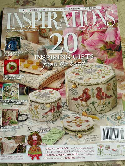 Inspirations Magazine Issue #65 featuring an embroidered box
