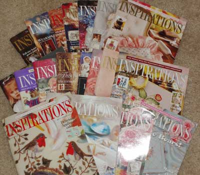 Back Issues of Inspirations Embroidery Magazine