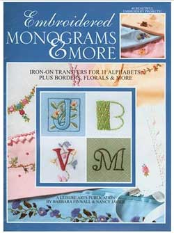 Iron-on Monograms: Monograms and More from Leisure Arts