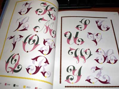 Book of Iron-On Monograms from Sajou