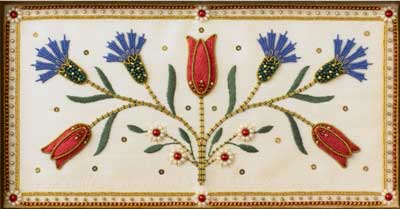 Stumpwork & Goldwork Inspired by Turkish, Syrian, and Persian Tiles