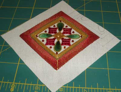 Goldwork & Silk Christmas Ornament Finish Work