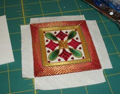 Goldwork & Silk Christmas Ornament Finish Work