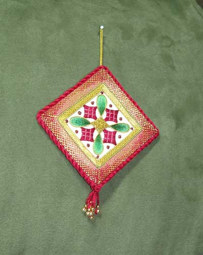 Goldwork Silk Ornament How I Finished It Several Times