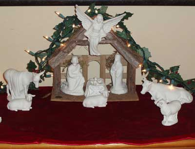 Mom's Porcelain Nativity Scene