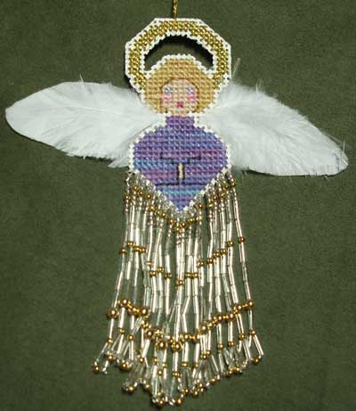 Beaded Angel Christmas Ornament