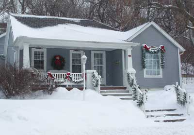 My House after Christmas Snowstorm, 2009