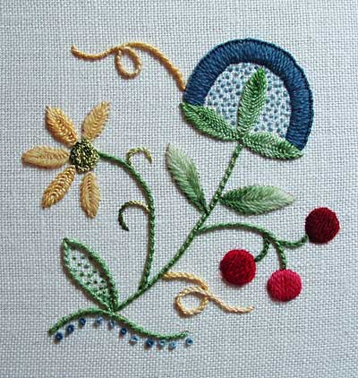 Crewel Embroidery: Charleston Small by Tristan Brooks