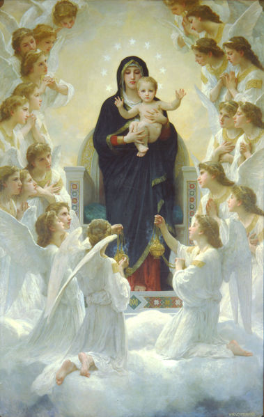 William Bouguereau Virgin with Angels