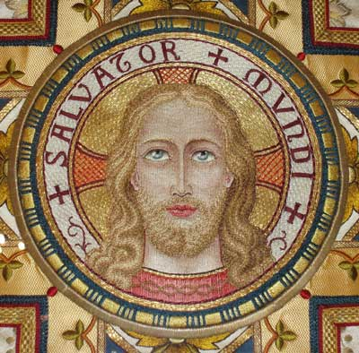 Hand Embroidered Vestment: Medallion of the Face of Christ
