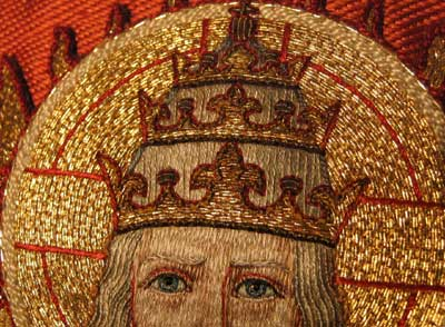 Ecclesiastical Needlework on a Cope Hood needing repair