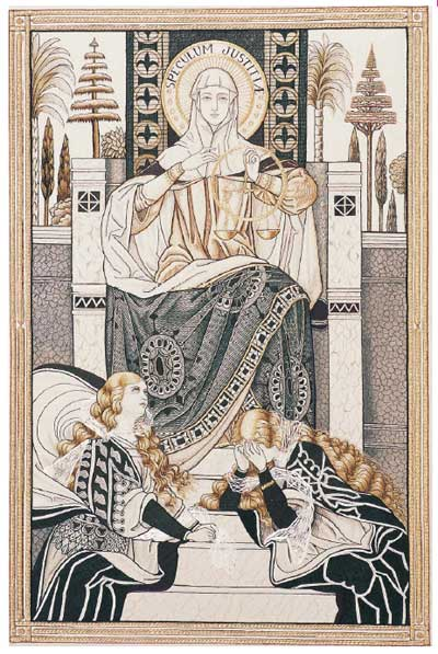 Litany of Loreto Embroideries: Mirror of Justice