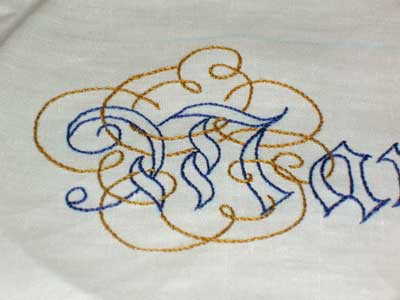 Hand Embroidered Maniturgia