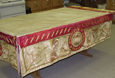 Ecclesiastical Embroidery: Processional Canopy in Disrepair