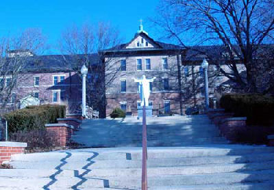 Main entrance to Benedictine Convent in Clyde, Missouri