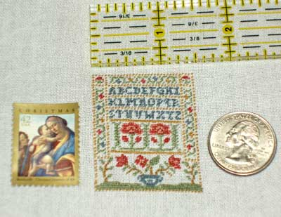 Miniature Embroidery Sampler
