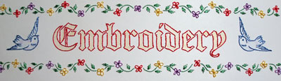 Embroidery Sign for Embroidery Classes