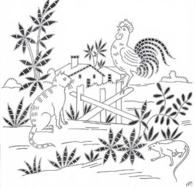 Embroidery Patterns for Fables