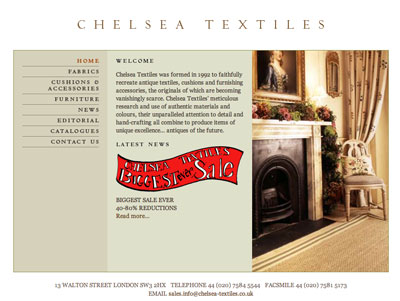 Embroidered Fabrics at Chelsea Textiles