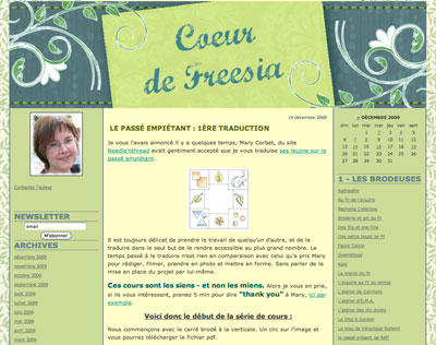 Long and Short Stitch Lessons in French on Coeur de Freezia