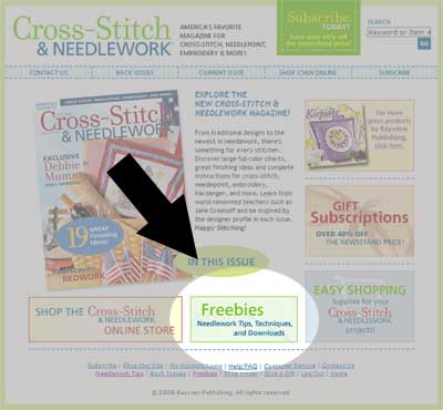 Cross Stitch and Needlework Magazine - Freebies
