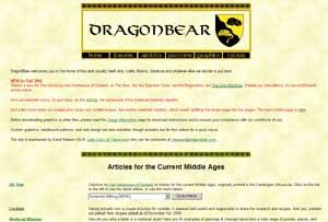 DragonBear website with historical embroidery patterns