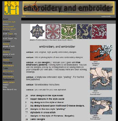 Great resource for Assisi work embroidery patterns