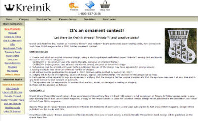 hand embroidery contest at Kreinik