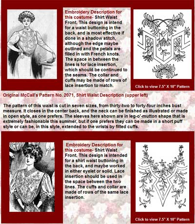 McCall's Magazine, May, 1908: Embroidery for Clothing