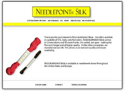 Needlepoint, Inc. Silks