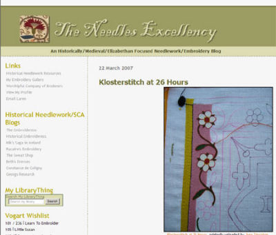 Historical Needlework Embroidery Site