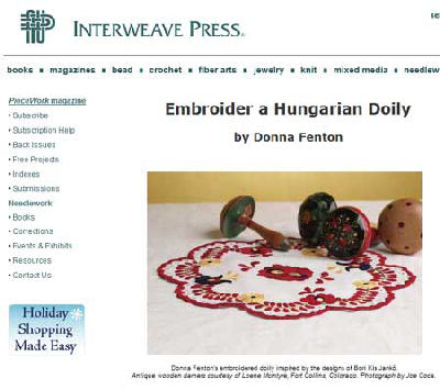 Hungarian Doily Pattern from Piecework Magazine