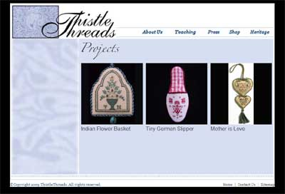 Thistle Threads Embroidery Website - Free Designs and Stitch Instructions