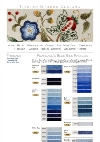 Tristan Brooks Designs: source for Pearsall's Silk