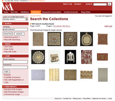 Victoria and Albert Museum Collection Search