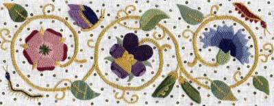 The Art of Elizabethan Embroidery by Jane Zimmerman
