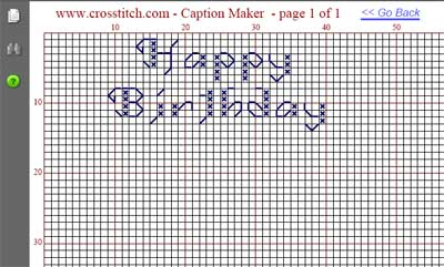 Cross Stitch Text Generator