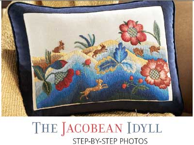 Jacobean Idyll by Phillipa Turnbull in Cross Stitch and Needlework Magazine